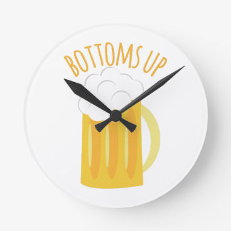 Bottoms Up Round Clocks