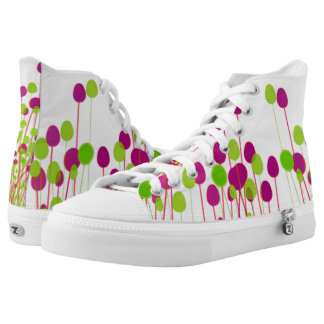 bottoms up floral lace ups High-Top sneakers