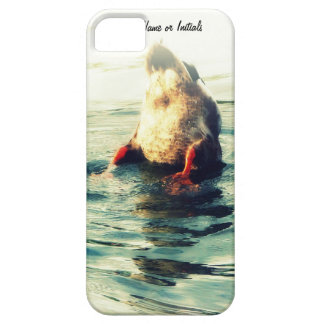 Bottoms UP! Funny Duck Butt Photo iPhone SE/5/5s Case