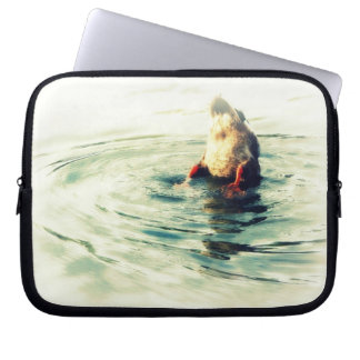 Bottoms UP! Funny Duck Butt Photo Laptop Computer Sleeve