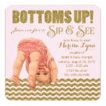 Bottoms Up Girls Sip & See Invitation (More invites like this available)