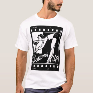Bottoms Up Retro Lady Drinking Huge Martini T-Shirt