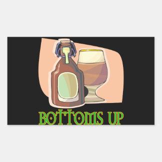 Bottoms Up Rectangular Sticker