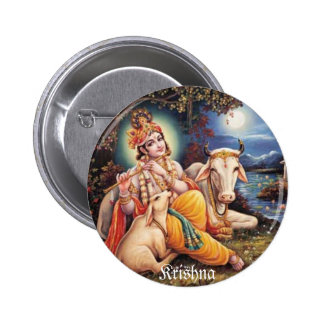 botton Krishna Pinback Button