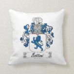 Bottoni Family Crest Throw Pillow
