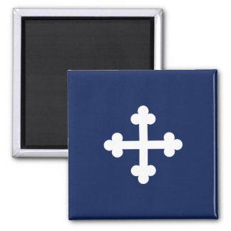 Bottony Blue Flag 2 Inch Square Magnet