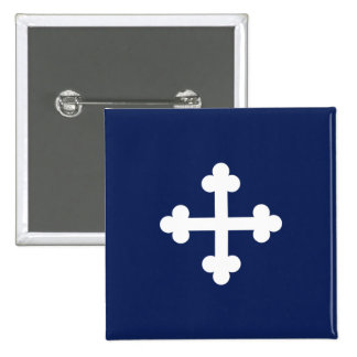 Bottony Blue Flag 2 Inch Square Button