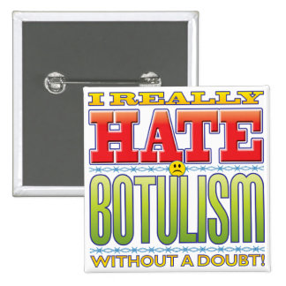 Botulism Hate Face 2 Inch Square Button