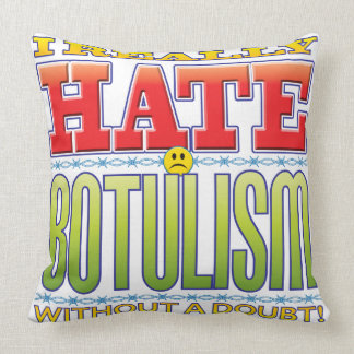Botulism Hate Face Throw Pillows