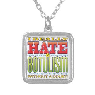 Botulism Hate Face Square Pendant Necklace
