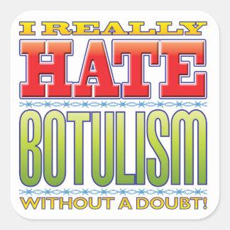 Botulism Hate Square Sticker