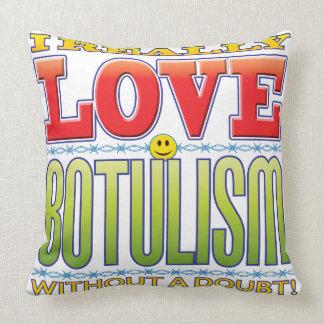 Botulism Love Face Throw Pillow