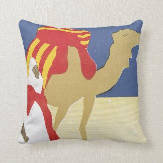 Bou Saada Algerie Vintage Travel Poster Throw Pillow