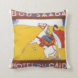 Bou Saada Vintage Travel Poster Throw Pillow