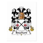 Bouchard Family Crest Postcard