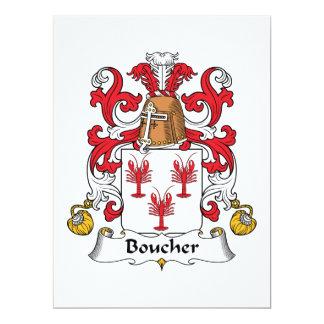 Boucher Family Crest Custom Announcement