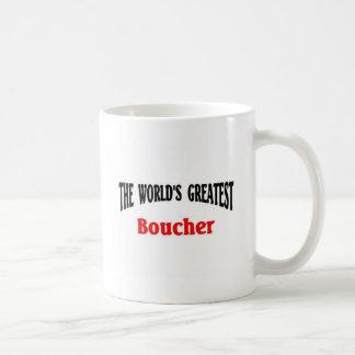 Boucher más grande del mundo taza de café