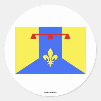 Bouches-du-Rhône flag Classic Round Sticker