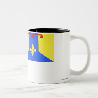 Bouches-du-Rhône flag Two-Tone Coffee Mug