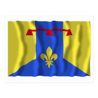 Bouches-du-Rhône waving flag Postcard