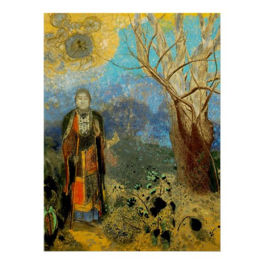 BOUDDHA BY REDON LARGE PRINT ON CANVAS