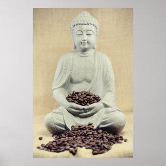 Bouddha de grains de café posters