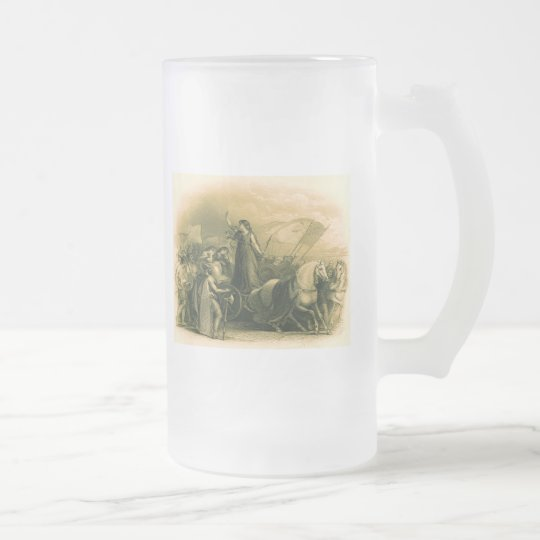 Boudica Frosted Glass Beer Mug
