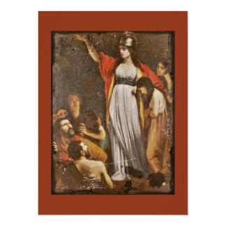 Boudicca Harangues the Britons 5.5x7.5 Paper Invitation Card