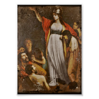 Boudicca Harangues the Britons Poster