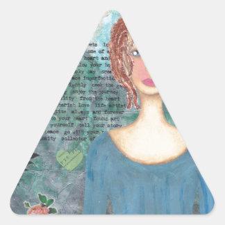 Boudicca of the Iceni 001.jpg Triangle Sticker