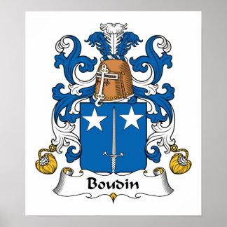 Boudin Family Crest Poster