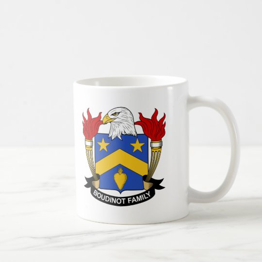 Boudinot Family Crest Coffee Mug