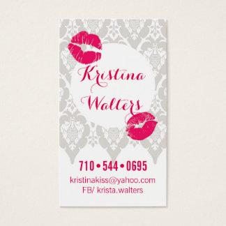 "Boudoir Kiss Business, 3.5"" x 2"", 100 pack, White Business Card"