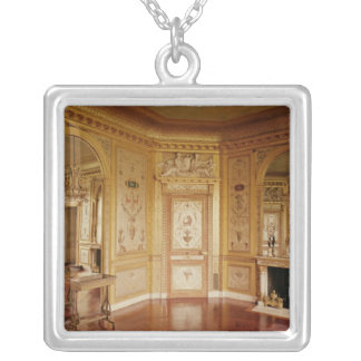 Boudoir of Marie-Antoinette  decorated in 1785 Silver Plated Necklace