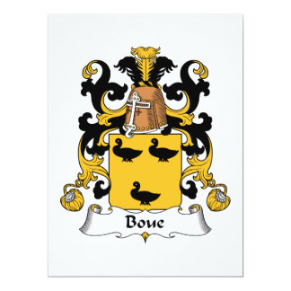 Boue Family Crest Personalized Announcement