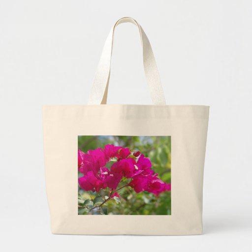 Bougainvilla de las rosas fuertes bolsa tela grande