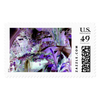 Bougainvilla Gardens Abstract in Purple Postage