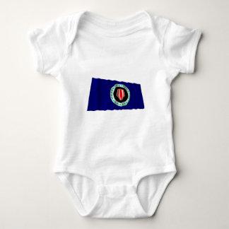 Bougainville Autonomous Region Waving Flag Infant Creeper