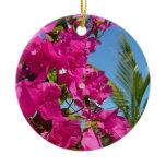 Bougainvillea and Palm Tree Ornament