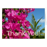 Bougainvillea and Palm Tree Thank You Card