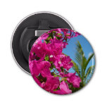 Bougainvillea and Palm Tree Tropical Nature Scene Bottle Opener
