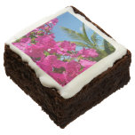 Bougainvillea and Palm Tree Tropical Nature Scene Brownie