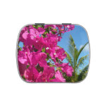 Bougainvillea and Palm Tree Tropical Nature Scene Candy Tin