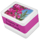 Bougainvillea and Palm Tree Tropical Nature Scene Drink Cooler