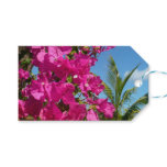 Bougainvillea and Palm Tree Tropical Nature Scene Gift Tags