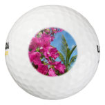Bougainvillea and Palm Tree Tropical Nature Scene Golf Balls