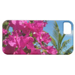 Bougainvillea and Palm Tree Tropical Nature Scene iPhone SE/5/5s Case