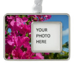 Bougainvillea and Palm Tree Tropical Nature Scene Ornament