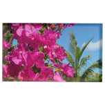 Bougainvillea and Palm Tree Tropical Nature Scene Place Card Holder