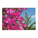 Bougainvillea and Palm Tree Tropical Nature Scene Placemat
